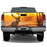Elk Buck Sunset Tailgate Wrap