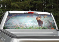 Elk in Fog Rear Window Decal