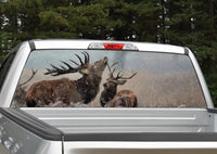 Elk in Snow Rear Window Decal