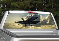 Fighter Jet #2 Navy Rear Window Decal