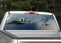 Fighter Jets Rear Window Decal