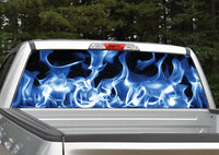 Fire Flames (Blue) Rear Window Decal