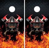 Firefighter Helmet Diamond Plate FIames