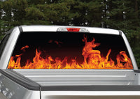 Fire Flames (Orange) Rear Window Decal