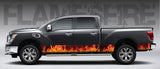 Fire Flames (Orange) Rocker Panel Decal Kit