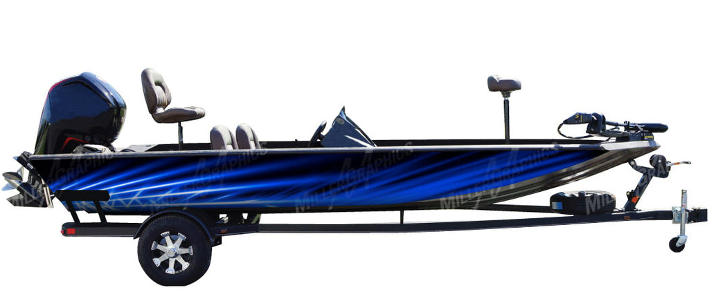 Flare (Blue) Boat Wrap Kit
