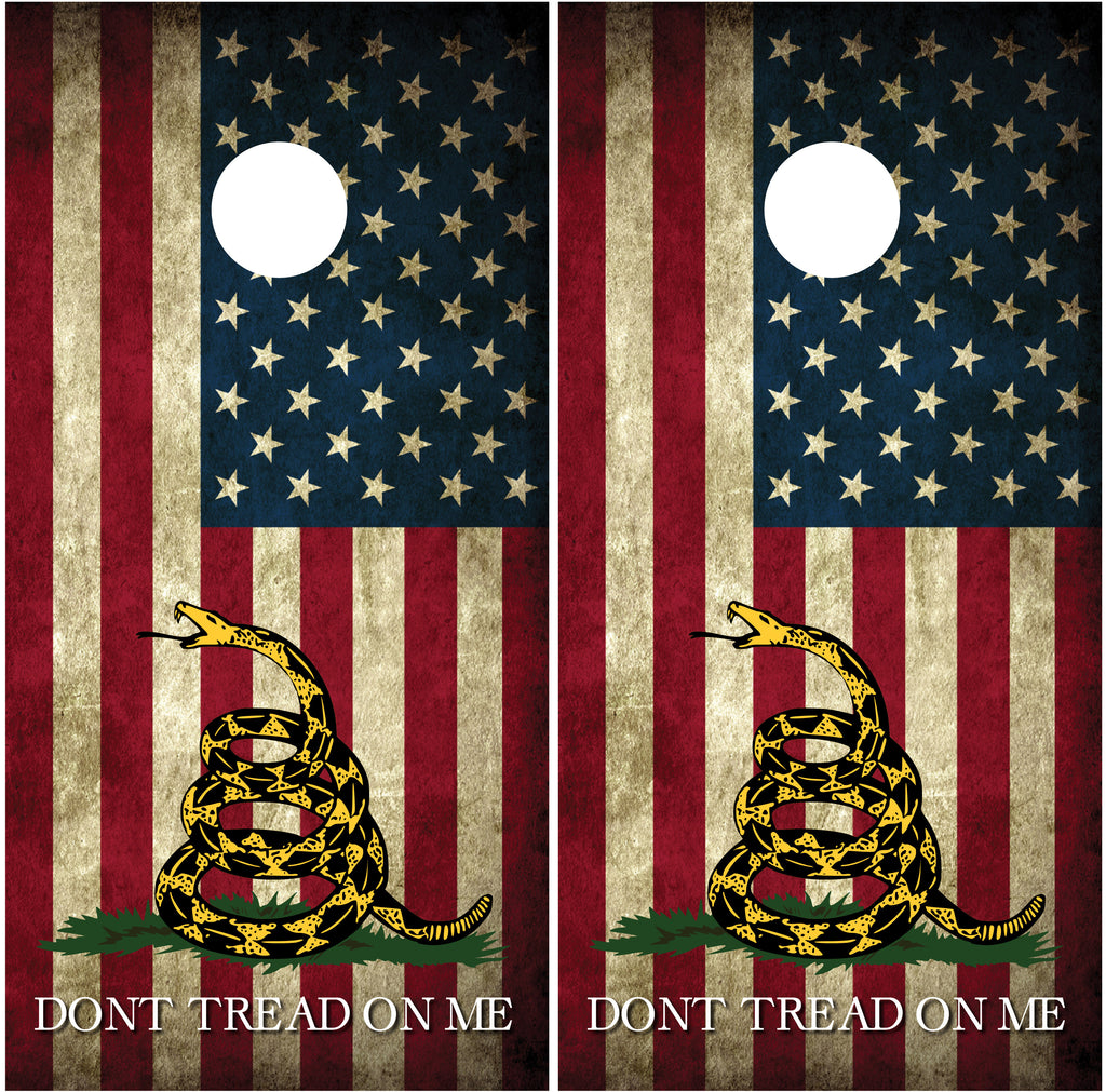 "Gadsden American Flag #2 ""Don't Tread On Me"""