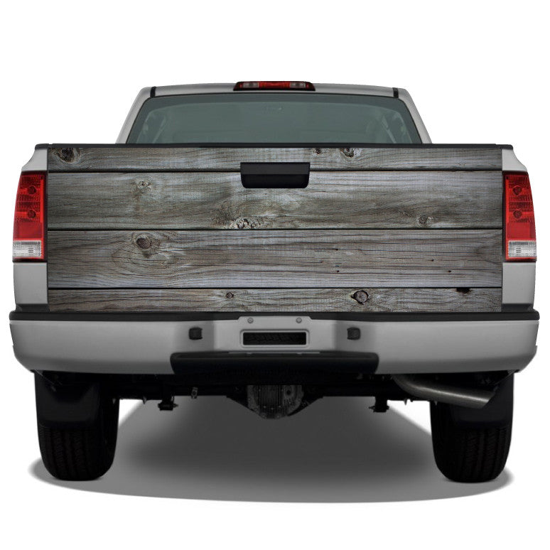 Distressed Wood Planks (Grey) Tailgate Wrap