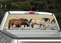 Horses Grazing Rear Window Decal