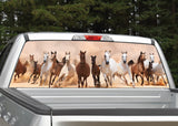Horses Running Rear Window Decal