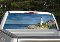 Lighthouse by the Ocean Rear Window Decal