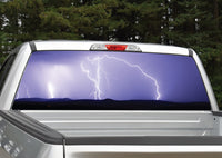 Lightning Storm Purple Rear Window Decal