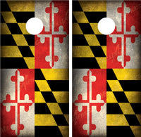 Maryland Flag Grunge Distressed