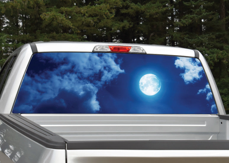 Moon Night and Clouds Rear Window Decal