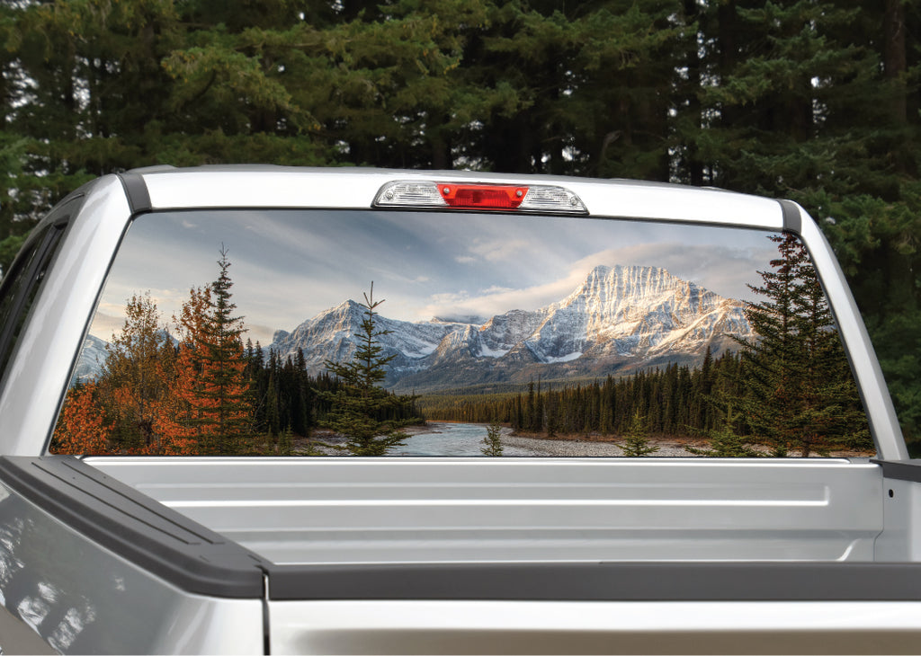 Mountain Scenery #6 River and Trees Rear Window Decal