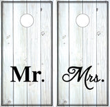 Mr and Mrs Distressed Wood (black and white)