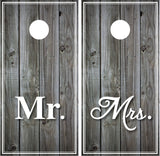 Mr and Mrs Distressed Wood (grey)