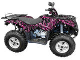 """Obliteration Pink"" Camo ATV Wrap Kit"