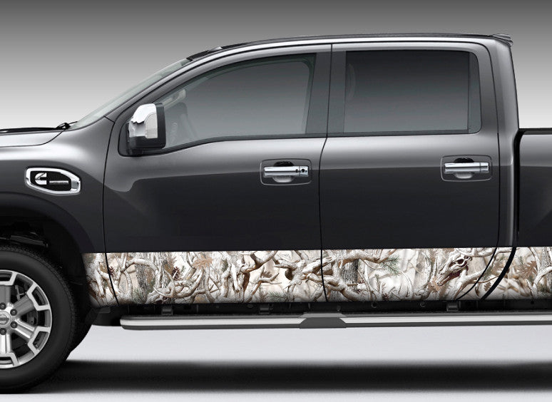 "Camo ""Obliteration Snow"" Rocker Panel Decal Kit"