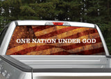 One Nation Under God American Flag Distressed