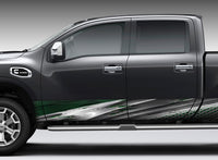 Oxide Metal (Green) Rocker Panel Decal Kit