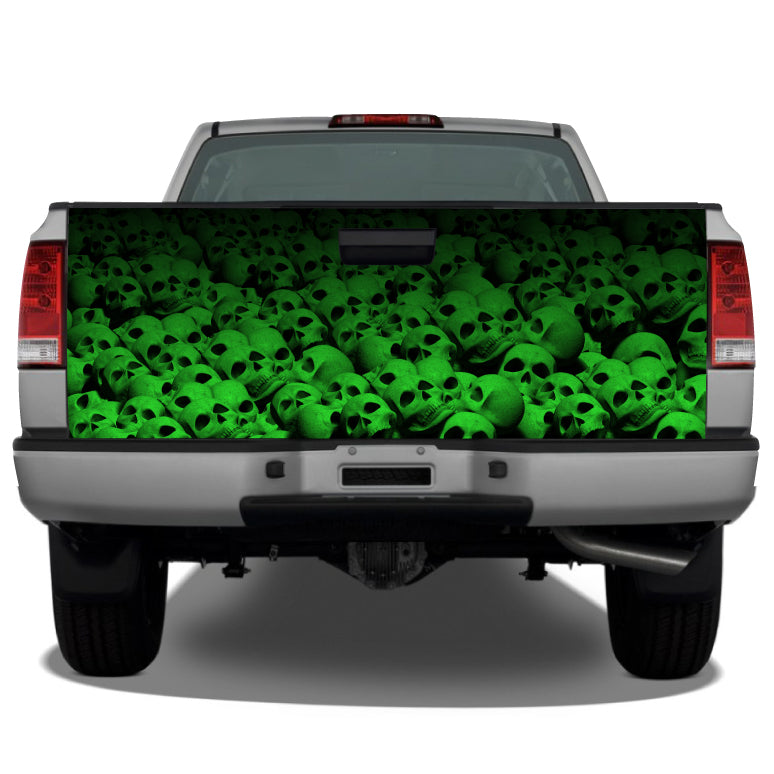 Pile of Skulls (Green) Tailgate Wrap