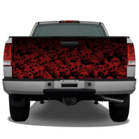 Pile of Skulls (Red) Tailgate Wrap