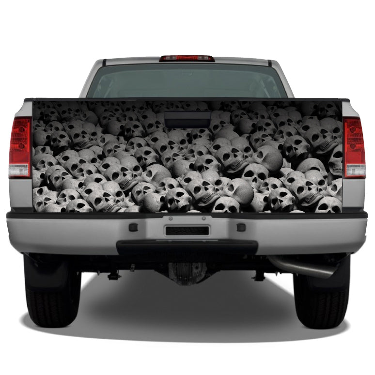 Pile of Skulls (White) Tailgate Wrap