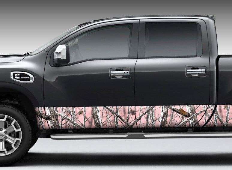 "Camo ""Snowstorm Pink"" Rocker Panel Decal Kit"
