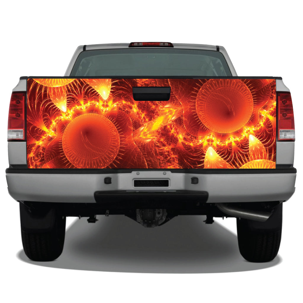 Ring of Fire Abstract Tailgate Wrap