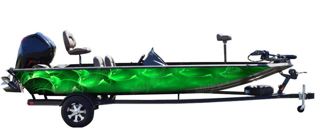 Ripple (Green) Boat Wrap Kit
