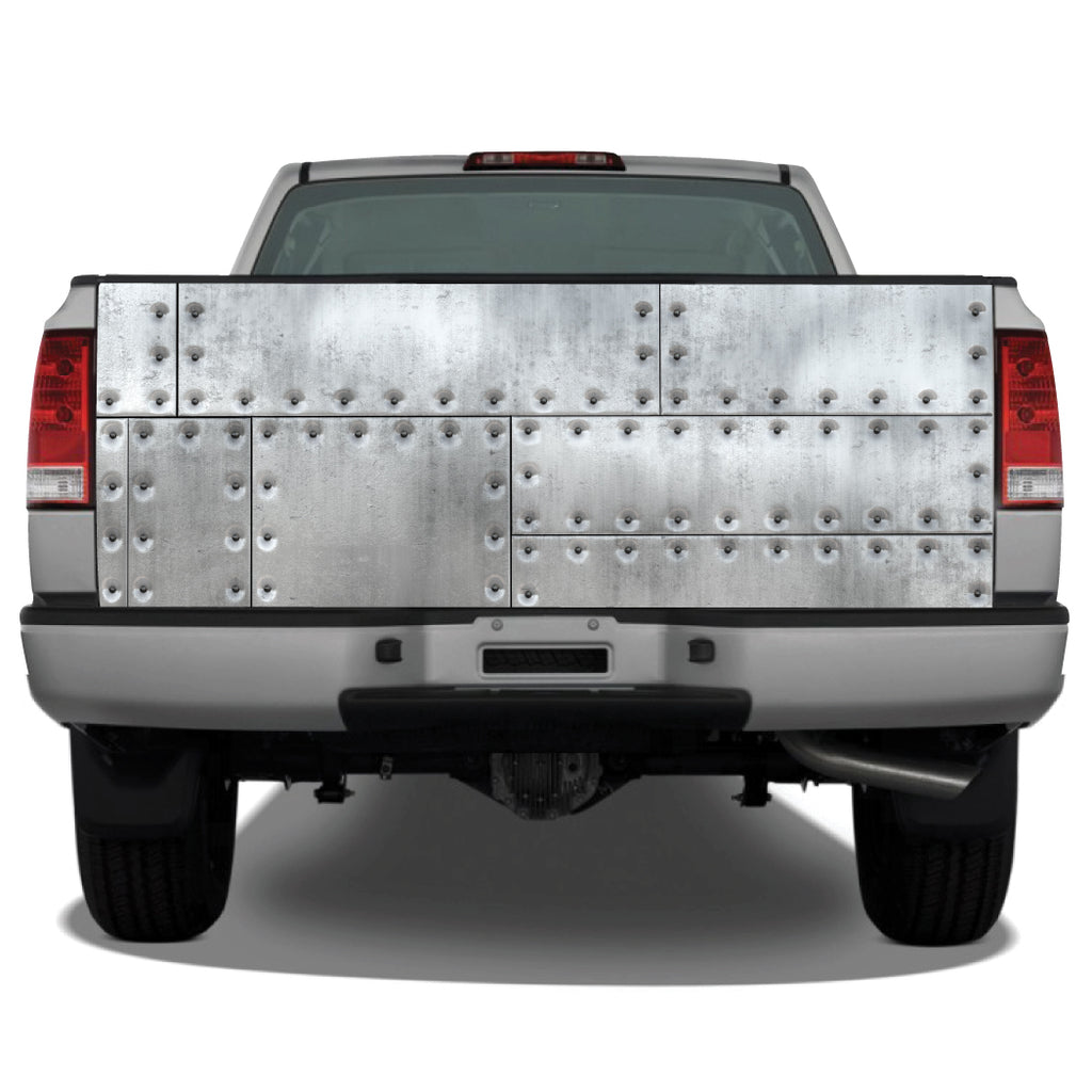 Riveted Metal Distressed Tailgate Wrap