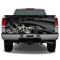 Skulls Abstract Metal Tailgate Wrap