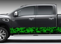 Pile of Skulls (Green) Rocker Panel Decal Kit