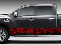 Pile of Skulls (Red) Rocker Panel Decal Kit