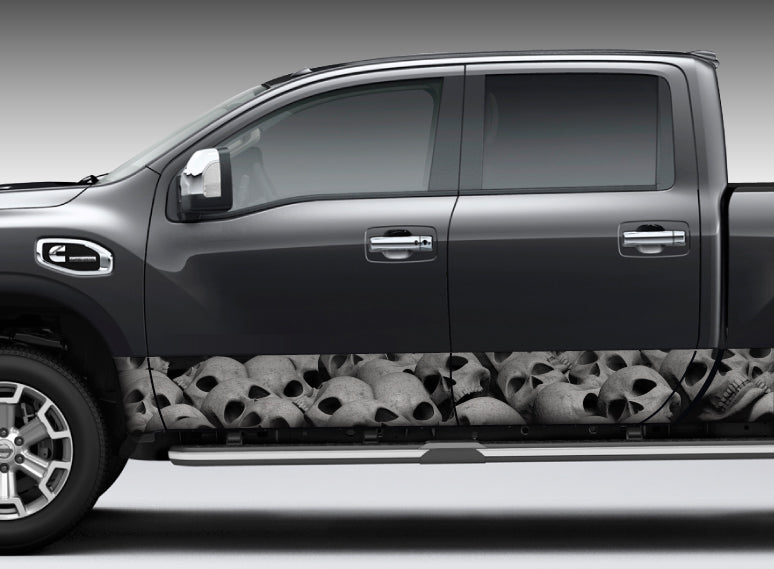 Pile of Skulls Rocker Panel Decal Kit