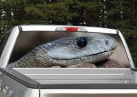 Snake Head Rear Window Decal