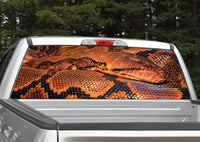 Snake (Orange and Black) Rear Window Decal
