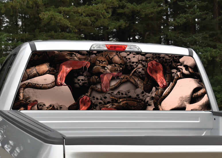Snake Pit Skulls Rear Window Decal