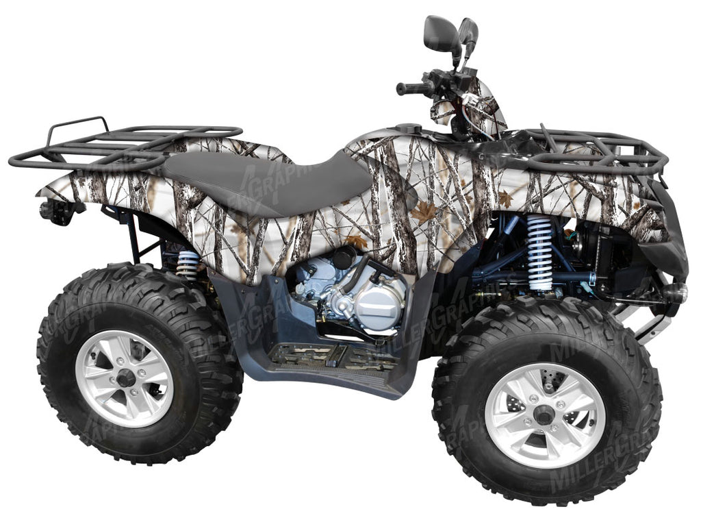"""Snowstorm"" Camo ATV Wrap Kit"