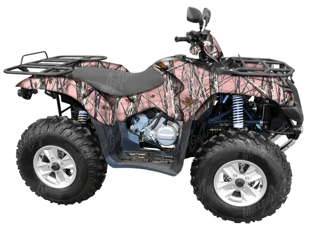 """Snowstorm Pink"" Camo ATV Wrap Kit"