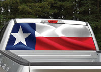 Texas Flag Waving Rear Window Decal