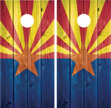Arizona Flag #2 Distressed Wood
