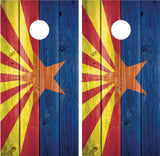 Arizona Flag Distressed Wood