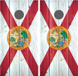 Florida Flag Distressed Wood