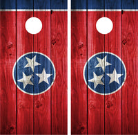 Tennessee Flag Distressed Wood