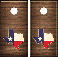 Texas State Flag Brown Distressed Wood