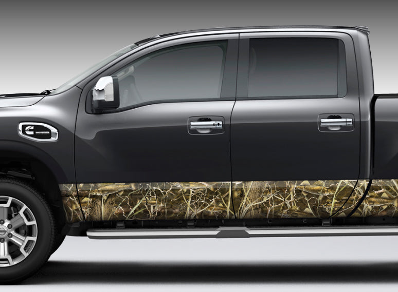 "Camo ""Walleye Camo"" Rocker Panel Decal Kit"