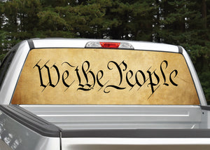 """We The People"" Rear Window Decal"