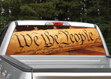 """We The People"" American Flag Rear Window Decal"